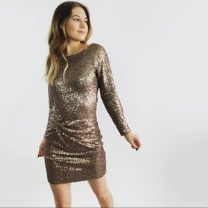 Greylin Sequin Party Mini Dress